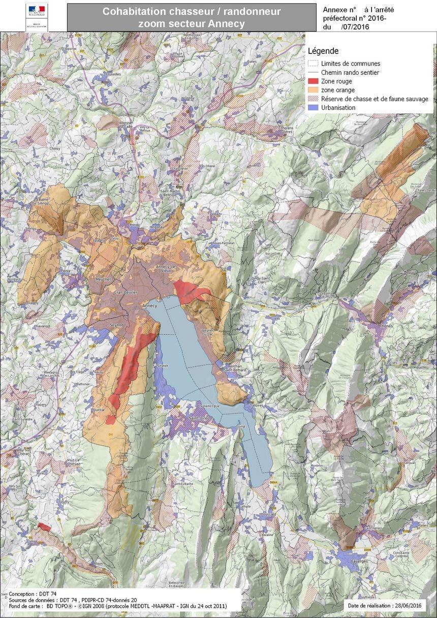 Carte secteur Annecy